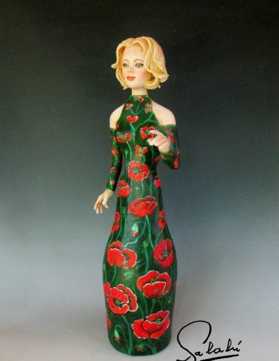 Amapola - Escultura en Botella