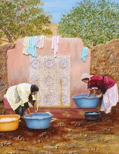 Lavanderas de Marruecos.