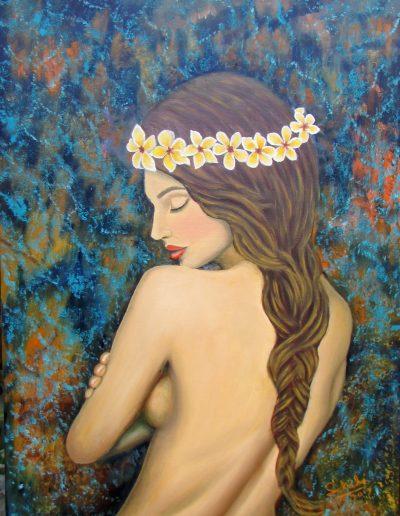Desnudo con Plumerias
